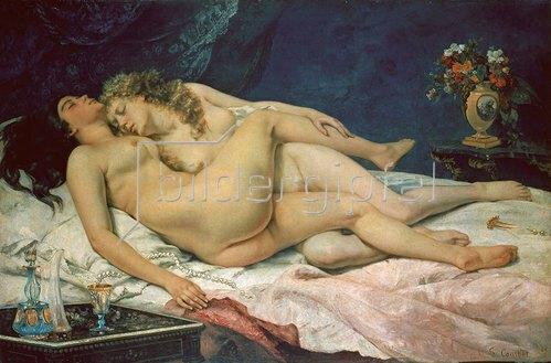 Gustave Courbet: Zwei Frauen in zärtlichem Beisammensein (Le sommeil). 1866