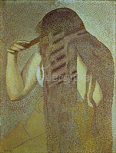 Henri Edmond Cross: Frau, ihre Haare kämmend.
