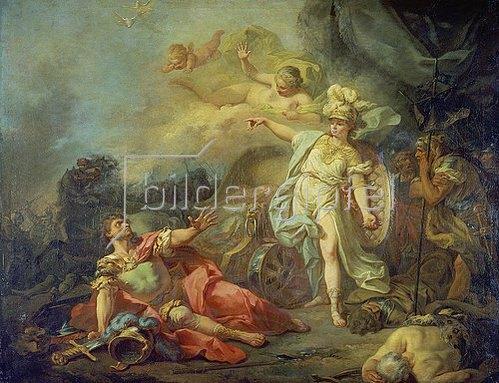 Jacques Louis David: Der Kampf zwischen Minerva und Mars.
