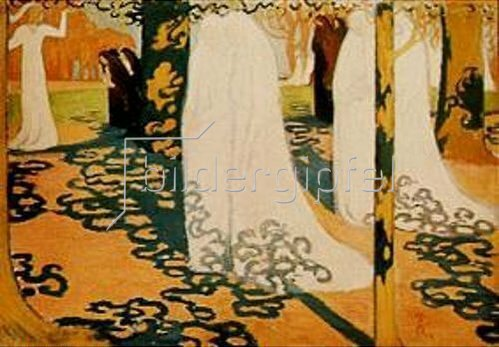 Maurice Denis: Prozession unter Bäumen. 1898