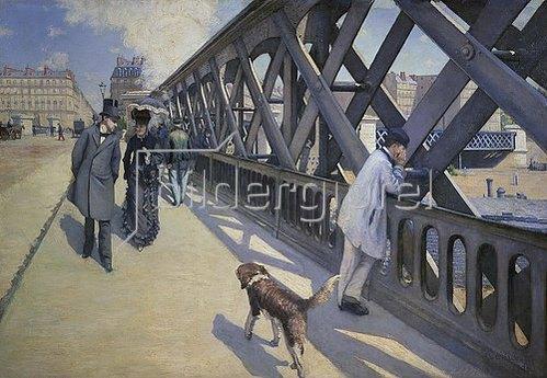 Gustave Caillebotte: Auf der Europabrücke. 1876