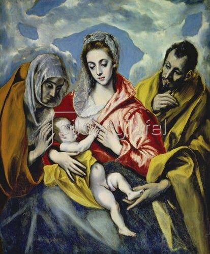 Greco El (Dom.Theotokopoulos): Die Heilige Familie mit der hl.Anna. Um 1595(?).