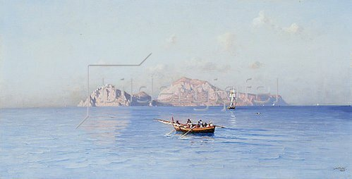 Friedrich Nerly: Blick auf Capri von der Nordseite.