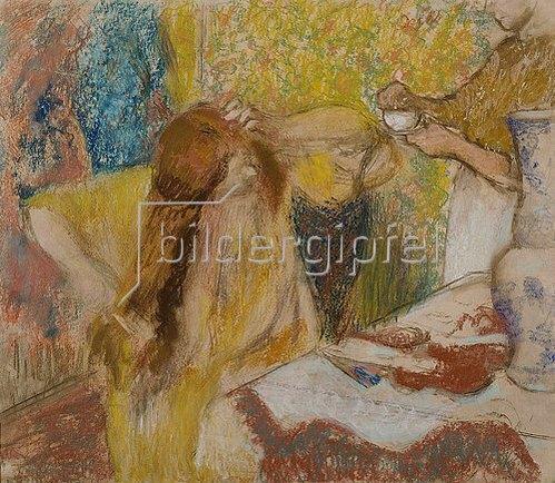 Edgar Degas: Sich kämmende Frau und Hausmädchen. Um 1894