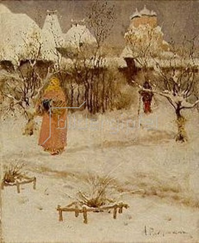 Andrej Petrow Rjabuschkin: Winterspaziergang in Russland.