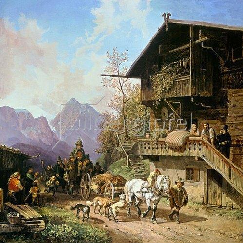 Heinrich Bürkel: Rückkehr von der Bärenjagd. 1839