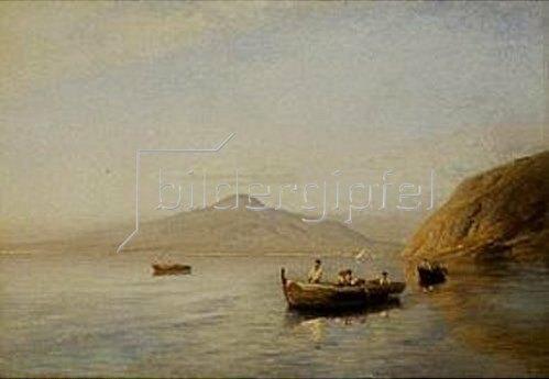 Albert Flamm: Fischer am Golf von Neapel.