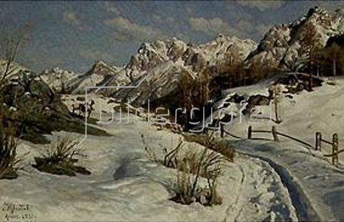 Peder Moensted: Winter im Engadin. 1921.