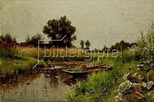Walter Moras: Idylle am Wasser.