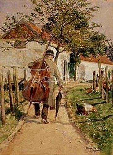 Hugo Mühlig: Musikant auf dem Heimweg.