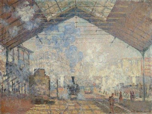 Claude Monet: Der Bahnhof Saint-Lazare. 1877