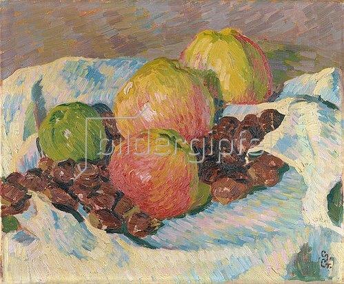 Giovanni Giacometti: Stilleben mit Äpfeln und Kastanien. 1908