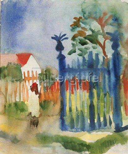 August Macke: Gartentor. 1914