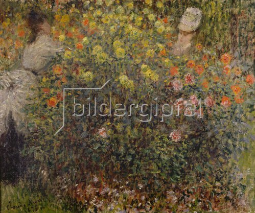 Claude Monet: Zwei Damen im Blumengarten. 1875