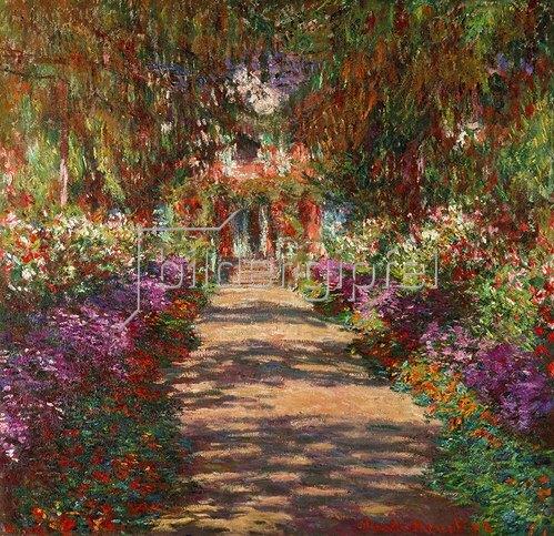 Claude Monet: Weg in Monets Garten in Giverny. 1902