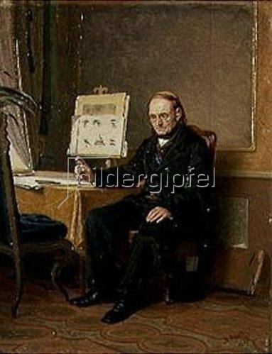 Wassili Perow: Der Zeichenlehrer. 1867.