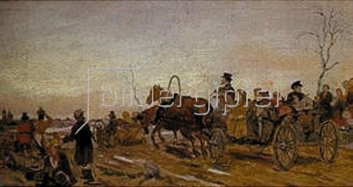 Wassili Perow: Karsamstag-Abend in Russland. 1873.