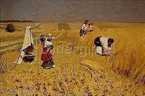 Nikolai Korniliew Pimonenko: Getreideernte in der Ukraine. 1896.