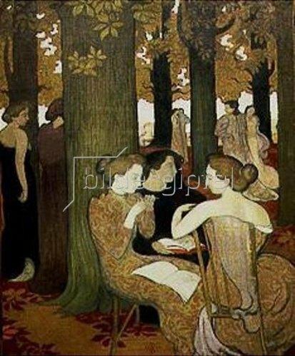 Maurice Denis: Die Musen (oder: Im Park). 1893.