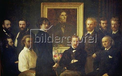 Henri de Fantin-Latour: Hommage a Delacroix. 1864.