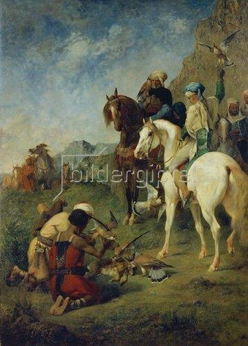 Eugène Fromentin: Falkenjagd in Algerien. 1863