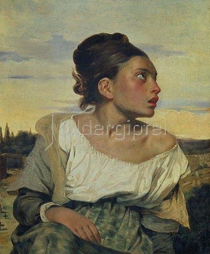 Eugene Delacroix: Junges Waisenmädchen auf dem Friedhof. 1824