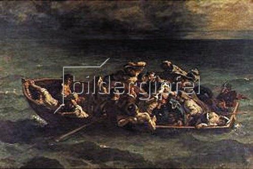 Eugene Delacroix: Der Schiffbruch des Don Juan. 1840. (Nach Byron: Don Juan).