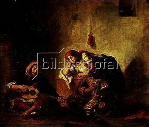 Eugene Delacroix: Jüdische Musikanten in Mogador. Gegen 1840.