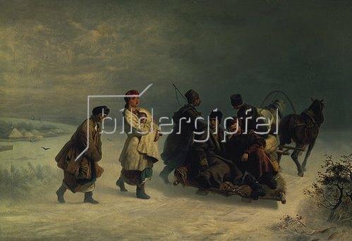 Iwan Ssokoloff: Der Abschied. 1860.