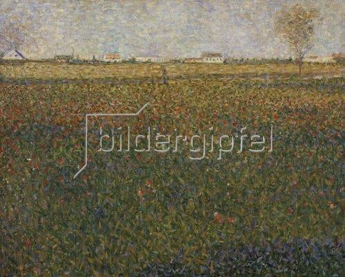 Georges Seurat: Luzernenfeld bei St. Denis. 1885