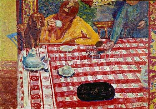 Pierre Bonnard: Am Kaffeetisch. 1915
