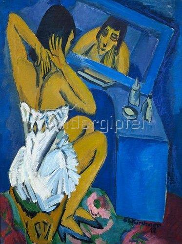 Ernst Ludwig Kirchner: Toilette - Frau vor dem Spiegel. 1912.