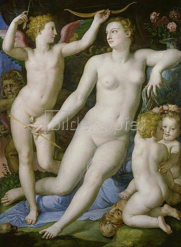 Agnolo Bronzino: Venus, Amor und die Eifersucht