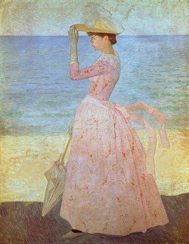 Aristide Maillol: Frau mit Sonnenschirm. 1890