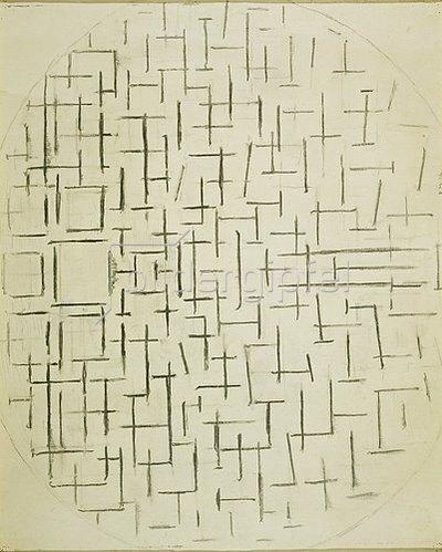 Piet Mondrian: Hafen und Ozean. 1914.