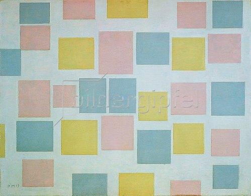Piet Mondrian: Komposition mit Farbflächen N° 3. 1917
