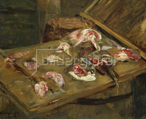 Max Liebermann: Fleisch-Stilleben. 1877.