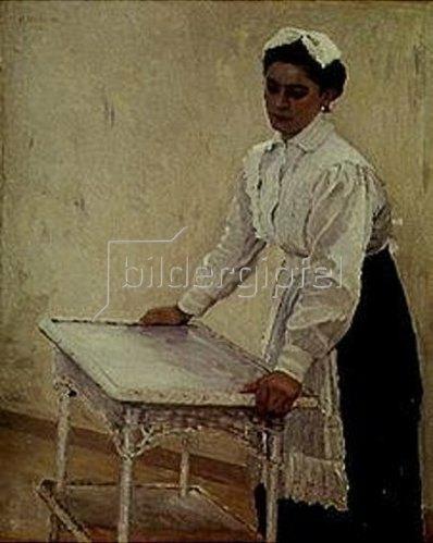 Michail Wassiljew Nesterow: Das Hausmädchen Sascha. 1915.