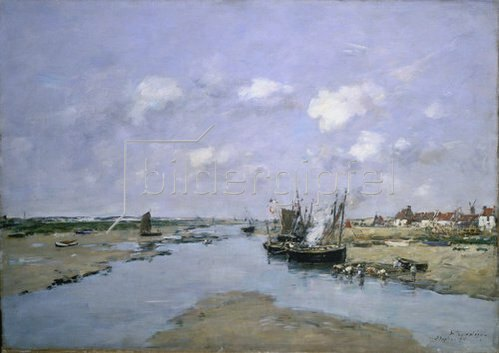 Eugène Boudin: Bei Ebbe in Etaples.