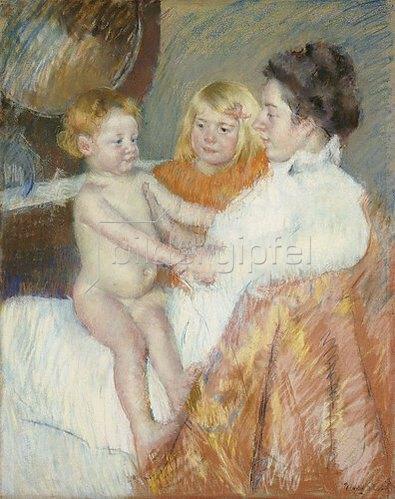 Mary Cassatt: Mutter mit Sara und dem Schwesterchen.