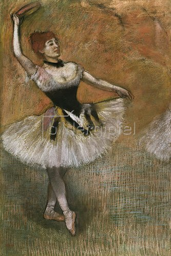 Edgar Degas: Tänzerin mit Tambourin. Um 1882
