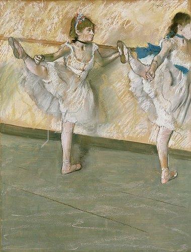 Edgar Degas: Übungen an der Stange. Um 1877-79