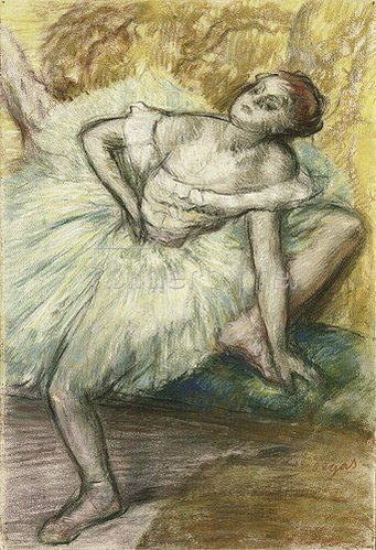Edgar Degas: Studie einer Tänzerin.