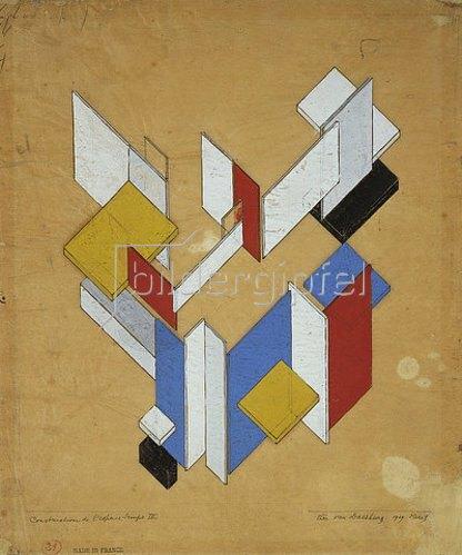 Theo van Doesburg: Construction de l'espace, Temps III. 1929.