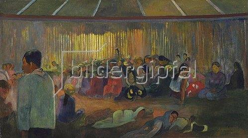 Paul Gauguin: TE FARE HYMENEE (Im Gesangshaus).