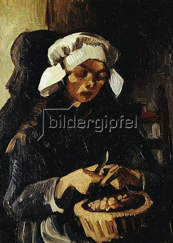 Vincent van Gogh: Kartoffelschälerin in Nuenen. 1885