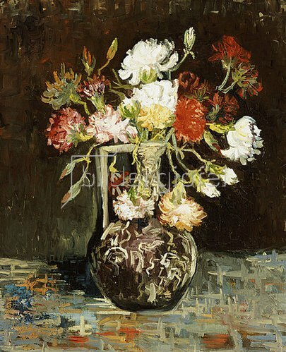 Vincent van Gogh: Blumenstrauss in Keramikkrug. 1886