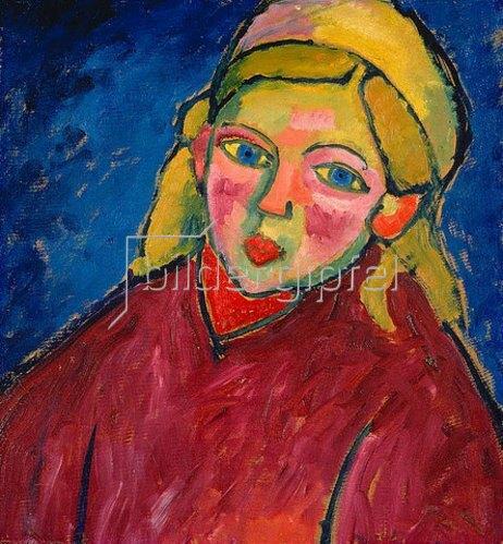 Alexej von Jawlensky: Kind mit blauen Augen.
