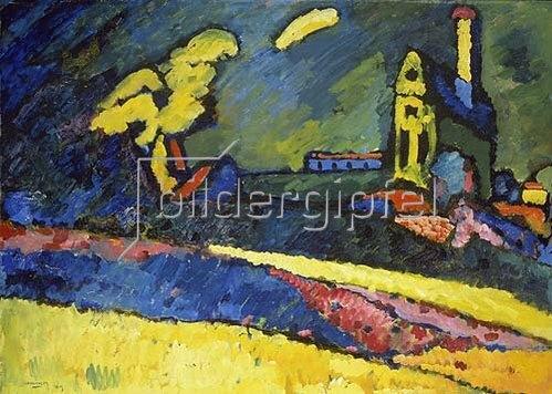 Wassily Kandinsky: Murnau, Landschaft mit Kirche I. 1909.