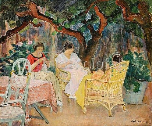 Henri Lebasque: Nachmittags im Garten bei Handarbeiten. 1923